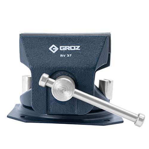 GROZ 3-12 inch Reversible Vise  Soft Polypropylene Jaws  Cast Iron  360° Swivel Base 35530