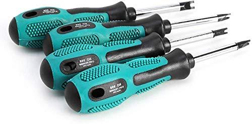 4 Pcs 8cm Long Nonslip Handle Magnetic Spanner Head Screwdriver Set