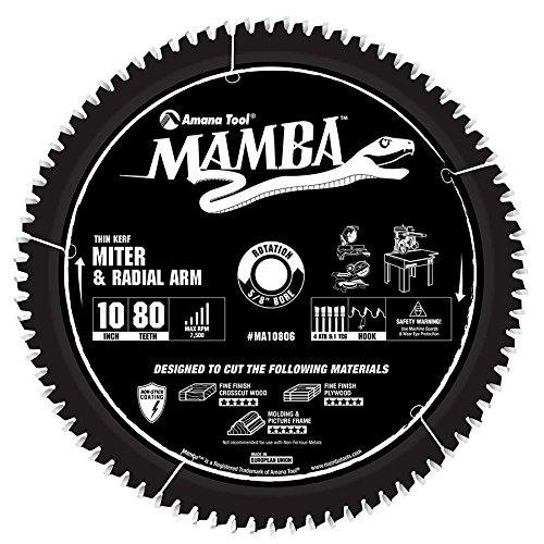 Amana MA10806 SLIDING COMPOUND MITER 10x80T