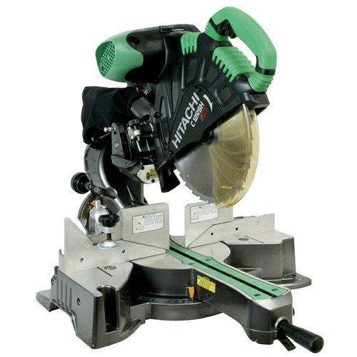 Hitachi C12RSH 12 in Sliding Dual Compound Miter Saw with Laser Marker Certified Refurbished