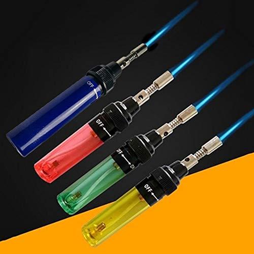 Blow Torch 1300 Degree Gas Soldering Solder Iron Cordless Butane Tip Tool Welding Pen Burner 8ml Welding Soldering Kit Blue