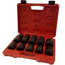 Jumbo Impact Socket Set 10 PC 1 Heavy Duty Socket Set MM With Carring Case