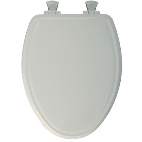Bemis 148SLOWA 346 Mayfair Slow-Close Molded Wood Toilet Seat featuring Whisper-Close Easy Clean Change Hinges and STA-TITE Seat Fastening System Elongated BiscuitLinen