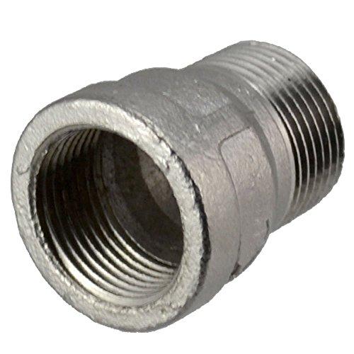 12 Female x 12 Male Nipple Bush Adapter Bushing Pipe Fittings NPT Stainless Steel 304