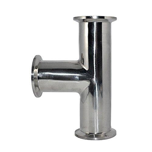 15 1-12 Diameter 38mm 3 Way Tee Sanitary Ferrule Pipe Fitting Stainless Steel SS316