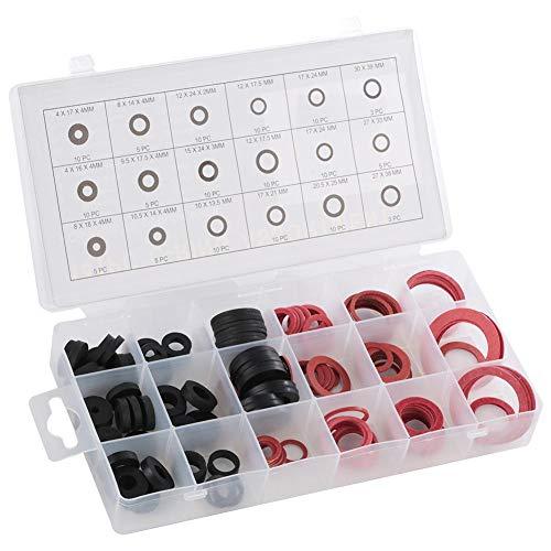 Enkelbruke 141pcs Plumbing Washer NBR O-Ring Tap Seal Plumbing Gasket Rubber Sealing Washer Assortment Set