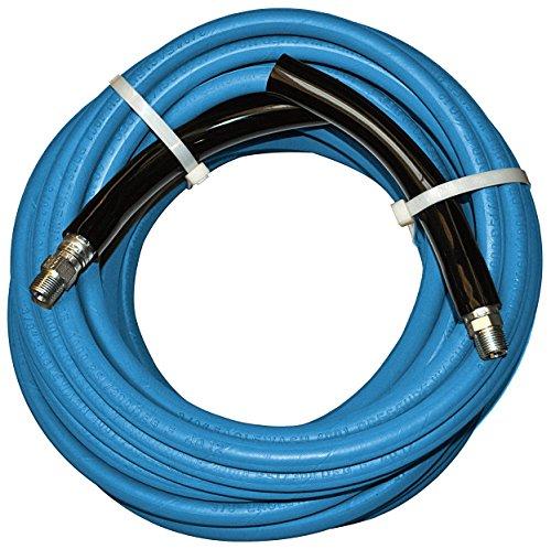 JGB Enterprises AEWB20102GG1802 Eaglewash I Pressure Washer Hose Blue 38 x 1800 38 Male Pipe x 38 Male Pipe Swivel Couplings Bend Rests 4000 psi