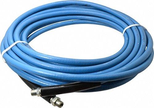 JGB Enterprises CEFB20202GG1202 Eagleflex II Pressure Washer Hose Blue 38 x 1200 38 Male Pipe Swivel Couplings 8 and 24 Black Bend Rests 6000 psi 14 Degree F to 310 Degree F