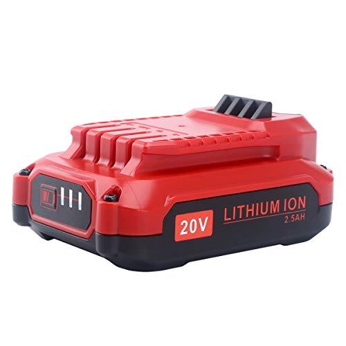 Biswaye 20V 2500mAh MAX Lithium Ion Battery for Craftsman V20 CMCB202 CMCB204 Only for V20 Series for Craftsman V20 Cordless Power Tool CMCCSL621D1 CMCST900D1 CMCHTS820D1 CMCCSP20M1 CMCD711C2