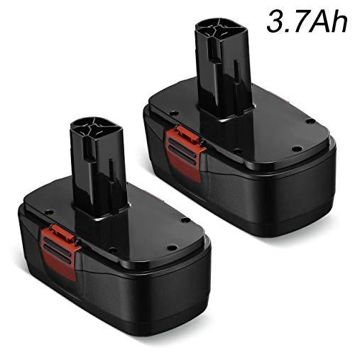 Upgarded 3700mAh 192 Volt C3 Battery for Craftsman 192 Volt Battery 315115410 31511485 130279005 1323903 120235021 11375 11376 Cordless Drills2 Packs