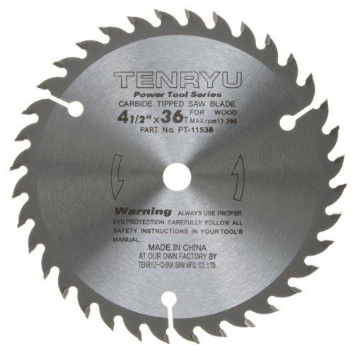 Tenryu PT-11536 4-12 Carbide Tipped Saw Blade  36 Tooth ATAF Grind - 38 Arbor - 0063 Kerf