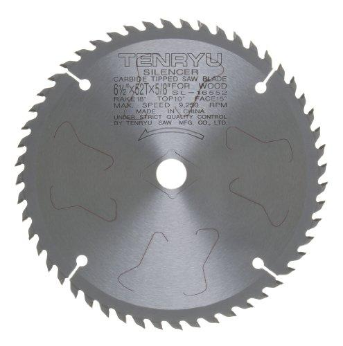 Tenryu SL-16552 6-12 Carbide Tipped Saw Blade  52 Tooth ATAF Grind - 58Ko Arbor - 0063 Kerf
