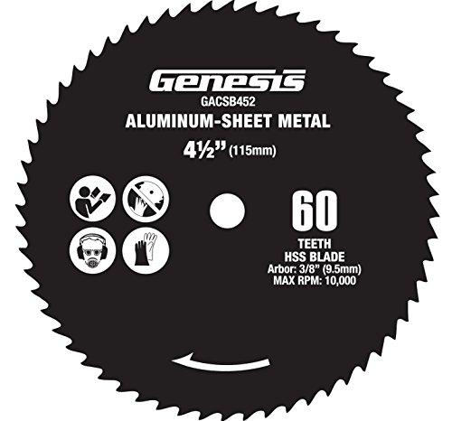 Genesis GACSB452 4 12 60-Teeth High Speed Steel Circular Saw Blade