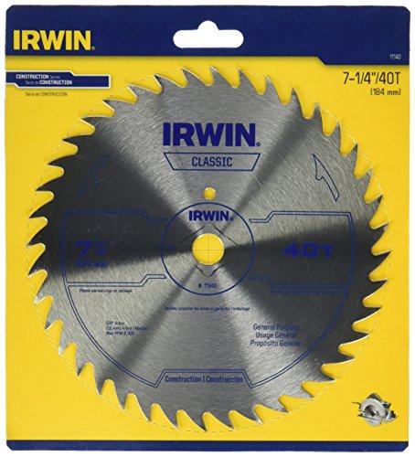 IRWIN Tools Corded Steel Circular Saw Blade 7 14-inch 40T 11140