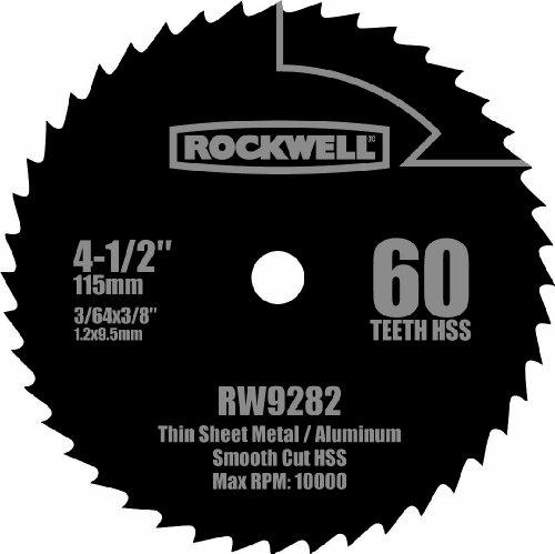 Rockwell RW9282 4 12-Inch 60T High Speed Steel Compact Circular Saw Blade