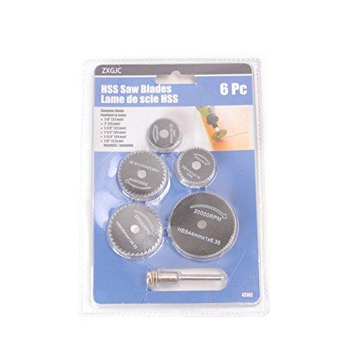 Mandydov HSS Micro Circular Saw Blade Cutting Wheel for Metal Dremel Rotary Tool Set of 6pcs