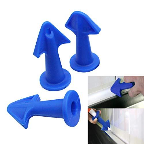 3 Set of Caulk Nozzle Applicator Silicone Caulking Tools Caulking Finisher Nozzle Sealant Nozzle Caulking Tools Silicone Sealant Finishing Tool Grout Scraper Great Tools for Kitchen Bathroom