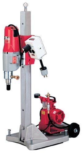 Milwaukee Diamond Coring Rig Large Base Stand Vac-U-Rig Kit Meter Box Motor 4120-22 Lot of 1