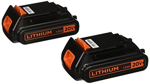 Black Decker LBXR20B-2 20V MAX Lithium Battery 2-Pack