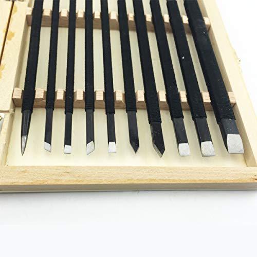 10PCS DIY Tools Hand Stone Carving Chisel SetStone Knife Set Stone Carving Tools
