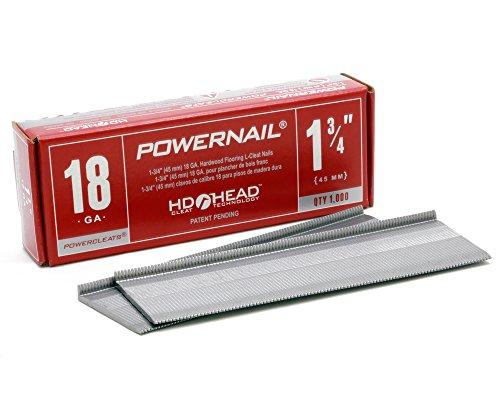 Powernail 18ga 1-34 L-cleats Box of 1000