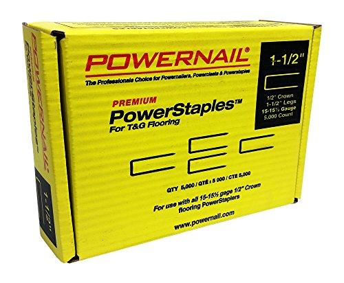 Powernail PowerStaple 155ga 1-12 Flooring Staple 5000ct