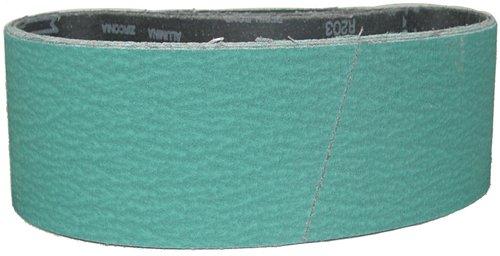 Magnate Z3X18S10 3 x 18 Sanding Belt - Zirconia Alumina - 100 Grit Y Weight 10 BeltsPkg