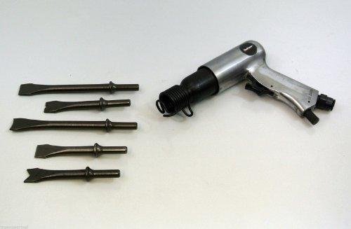 TruePower Medium Barrel Air Chisel Hammer With 5 Chisels