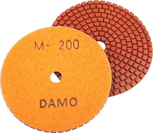 4 DAMO Wet Diamond Polishing Pad Grit 200 for Granite PolishConcrete Polisher Countertop