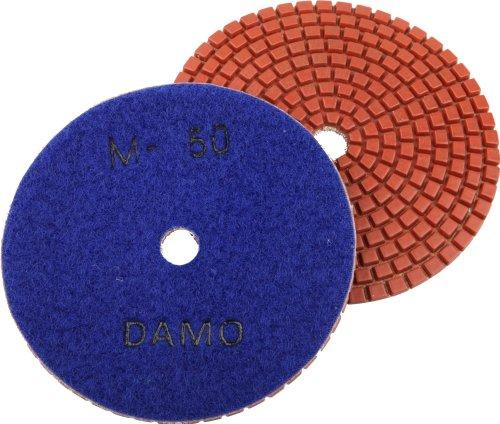 4 DAMO Wet Diamond Polishing Pad Grit 50 for Granite PolishConcrete Polisher Countertop