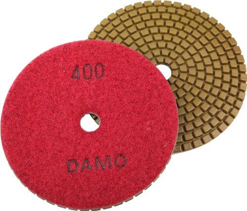 5 DAMO Premium Wet Diamond Polishing Pad Grit 400 for Granite  Marble  Concrete