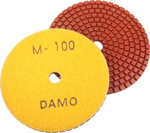 5 DAMO Premium Wet Diamond Polishing Pads Grit 100 for Granite  Marble  Concrete