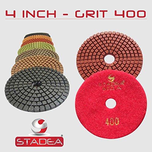 STADEA Grit 400 4 Diamond Polishing Pads Premium Grade Wet Flexible 3 MM High