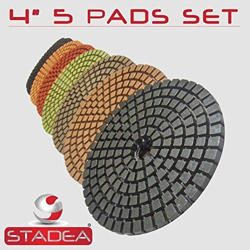 STADEA Premium Grade Wet 4 Diamond Polishing Pads Set For CONCRETE Polish