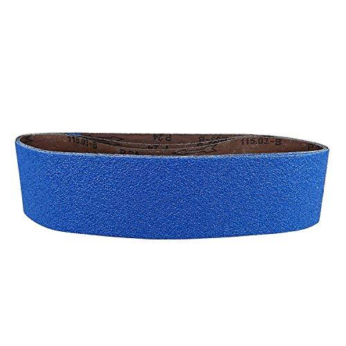 POWERTEC 464801Z 6 x 48-Inch Metal Grinding Zirconia Sanding Belts Assorted 3 Each of 36100 120 Grits 9 PK