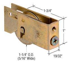 CR LAURENCE D1883 CRL 1-14 Steel Ball Bearing Sliding Glass Door Roller with 1932 Wide Housing