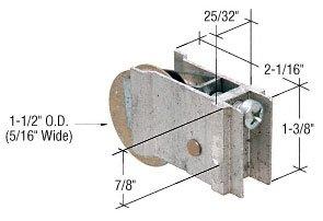 CR LAURENCE D1960 CRL 1-12 Steel Ball Bearing Sliding Glass Door Roller with 2532 Wide Housing