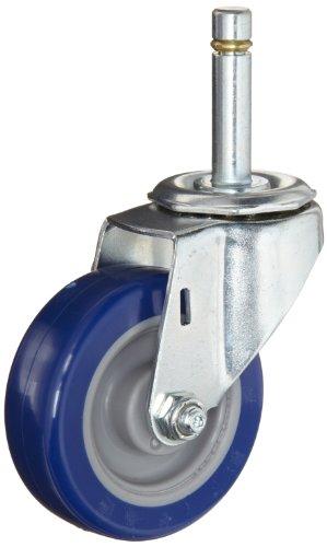ER Wagner Stem Caster Swivel Polyurethane on Polyolefin Wheel Precision Ball Bearing 450 lbs Capacity 3 Wheel Dia 1-34 Wheel Width 3-78 Mount Height 12-13 Stem Dia 1-12 Stem Height