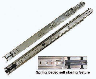 KV 8400 Series Full Extension Precision Ball Bearing Slides Self Closing 16 100 Class Set
