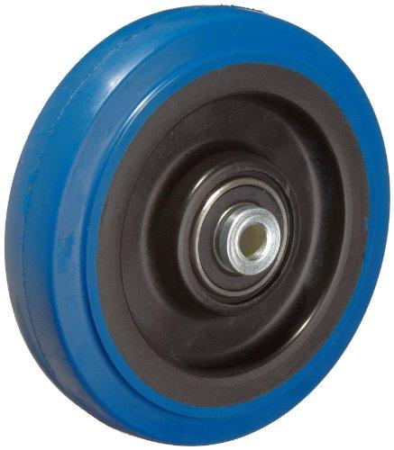 RWM Casters Signature Premium Rubber Wheel Precision Ball Bearing 250 lbs Capacity 4 Wheel Dia 1-14 Wheel Width 1-58 Plate Length
