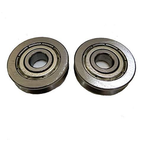Driak 2pcs 10x35x9mm039x137x035 Deep V Groove Sealed Guide Pulley Rail Ball Bearings WheelV6200zz