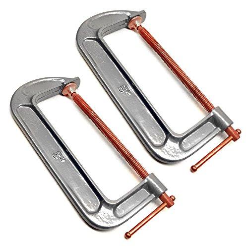 8 inch 200mm Steel G Clamp Welding Woodwork Joiner Grip Holder 2 Pack TE220