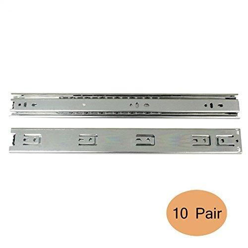 Gobrico Ball Bearing Drawer Slides 10Pair Kitchen Furniture Drawer Rail 18 Full Extension