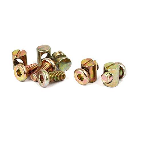 uxcell M8x16mm Hex Key Drive Socket Cap Furniture Bolt w M8x15mm Barrel Nut 5 Set