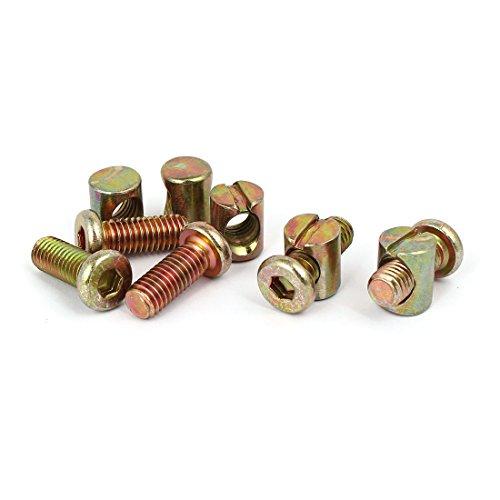 uxcell M8x20mm Hex Key Drive Socket Cap Furniture Bolt w M8x15mm Barrel Nut 5 Set