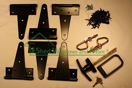 Shed Door Hardware Kit T Hinges 8 T Handle Barrel Bolts