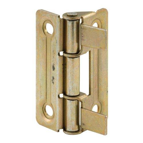 Slide-Co 161908 Bi-Fold Door Hinge Self Align Non-Mortise Brass PlatedPack of 2