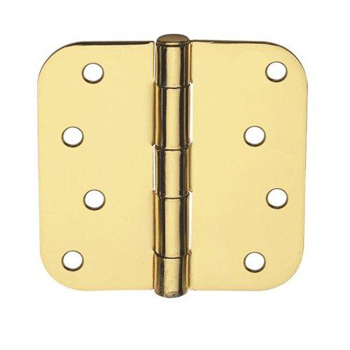 Global Door Controls 4 in x 4 in Satin Brass Plain Bearing Steel Hinge with 58 in Radius - Set of 2
