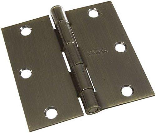 NATIONAL MFGSPECTRUM BRANDS HHI N830-329 Door Hinge 35-Inch Antique Brass 3-Pack