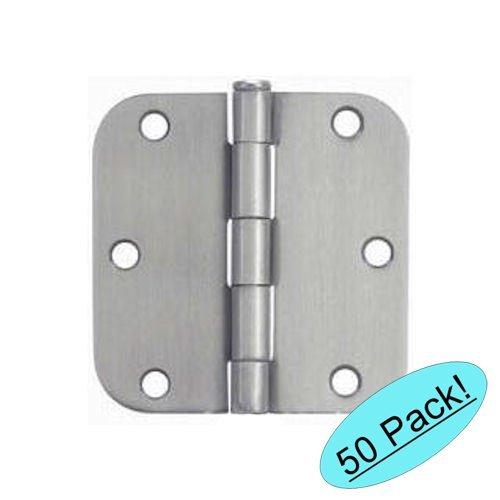 Cosmas Satin Nickel Door Hinge 35 Inch x 35 Inch with 58 Inch Radius Corners - 50 Pack